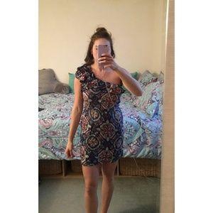 Xhilaration Floral One Shoulder Dress
